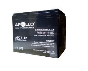 Ắc quy Apollo 12V 75Ah, AP75-12